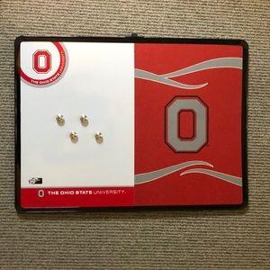 Ohio State dry erase board/ cork board.